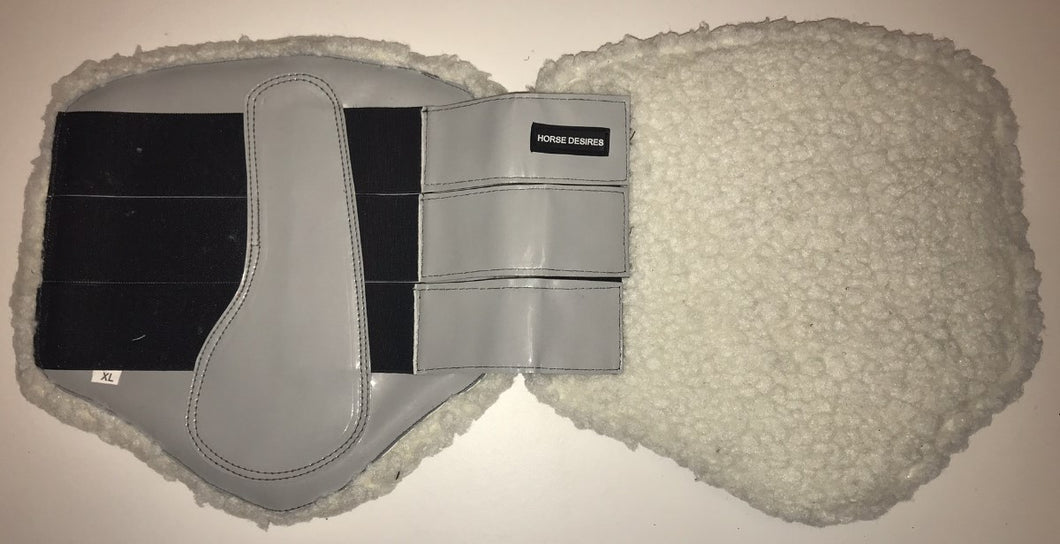 Brushing Boots - Fleece lined - Grey