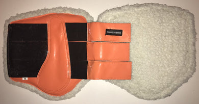 Brushing Boots - Fleece lined - Orange