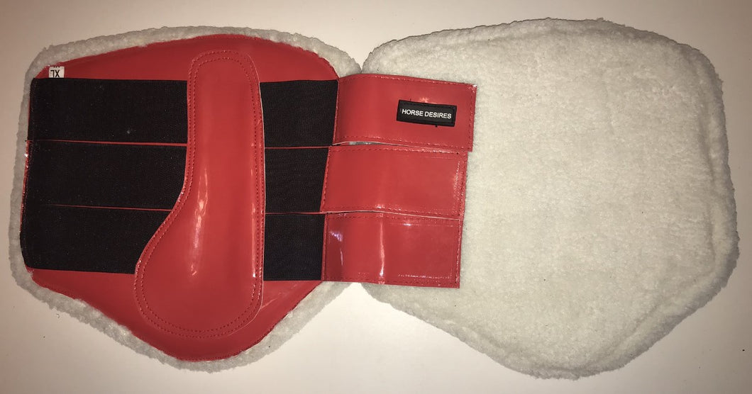 Brushing Boots - Fleece lined - Red