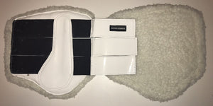 Brushing Boots - Fleece lined - White