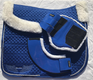 Brushing Boots - Fleece lined - Royal Blue