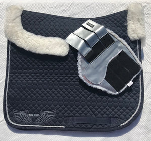 Brushing Boots - Fleece lined - Silver