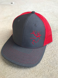 Charcoal Grey/Red