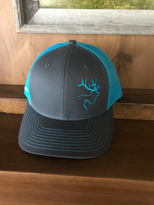 Charcoal Grey/Turquoise Hat