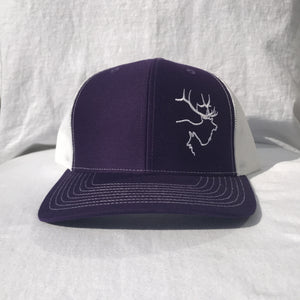 Purple/White Hat