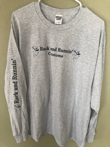 Heathered Grey Long Sleeve- 3D Logo