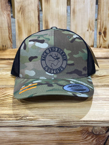 Green Multicam patch hat