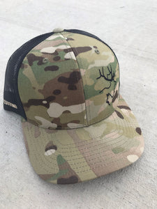 Brown multi-cam snapback