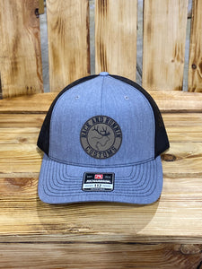 Heather Gray and Black patch hat