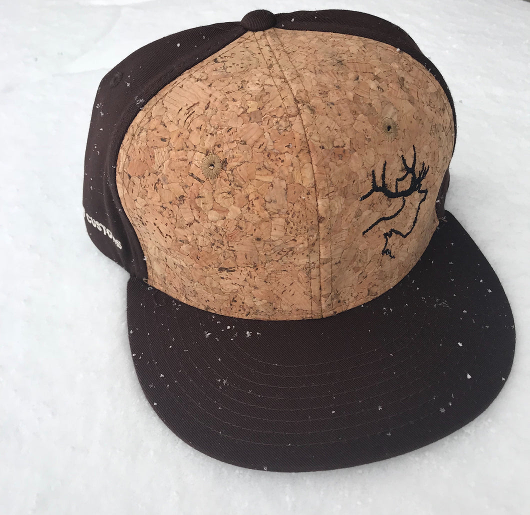 Flatbrim: Cork/Brown hat