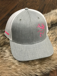 Heathered Grey and White Hat