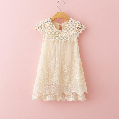 Cream toddler girl dress