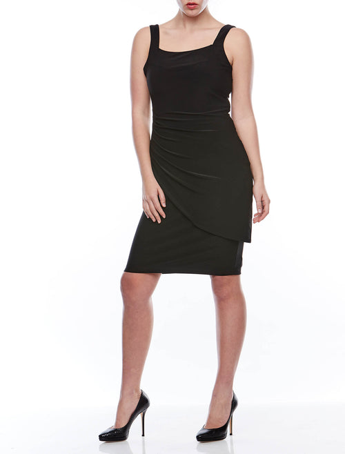 S/Less Overlay Rouched dress