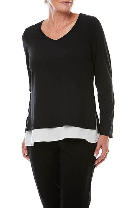 Layered V Neck Top