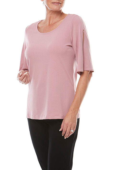 Elbow Split Slv Top