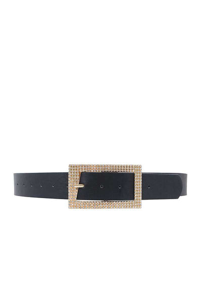 Fashion Rhinestone Square Buckle Belt