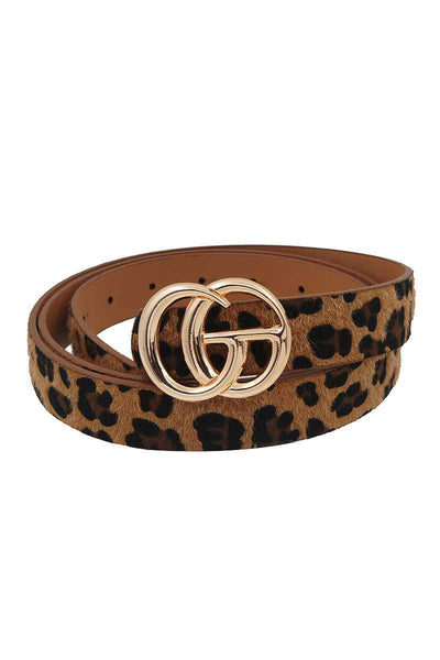 Fashion Trendy Leopard Fur Belt