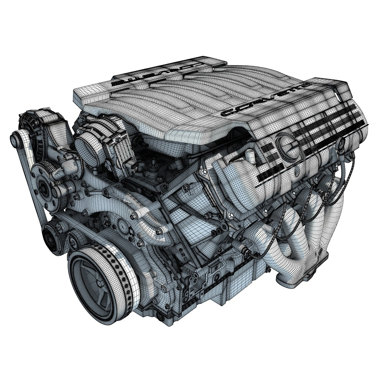 3D Engine Chevrolet Model