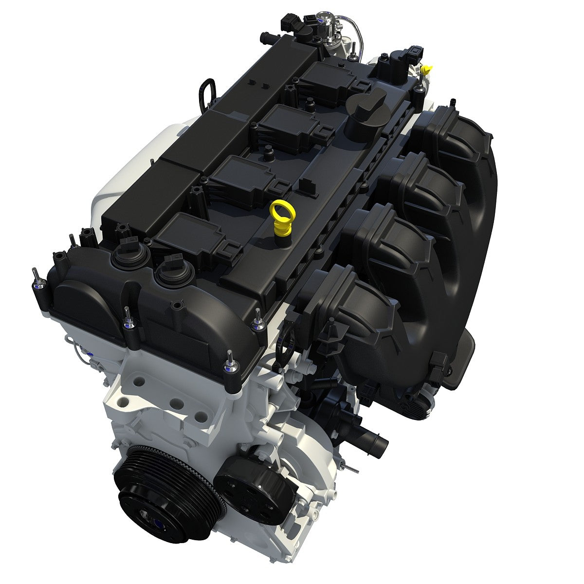 3D Turbo Engine Model