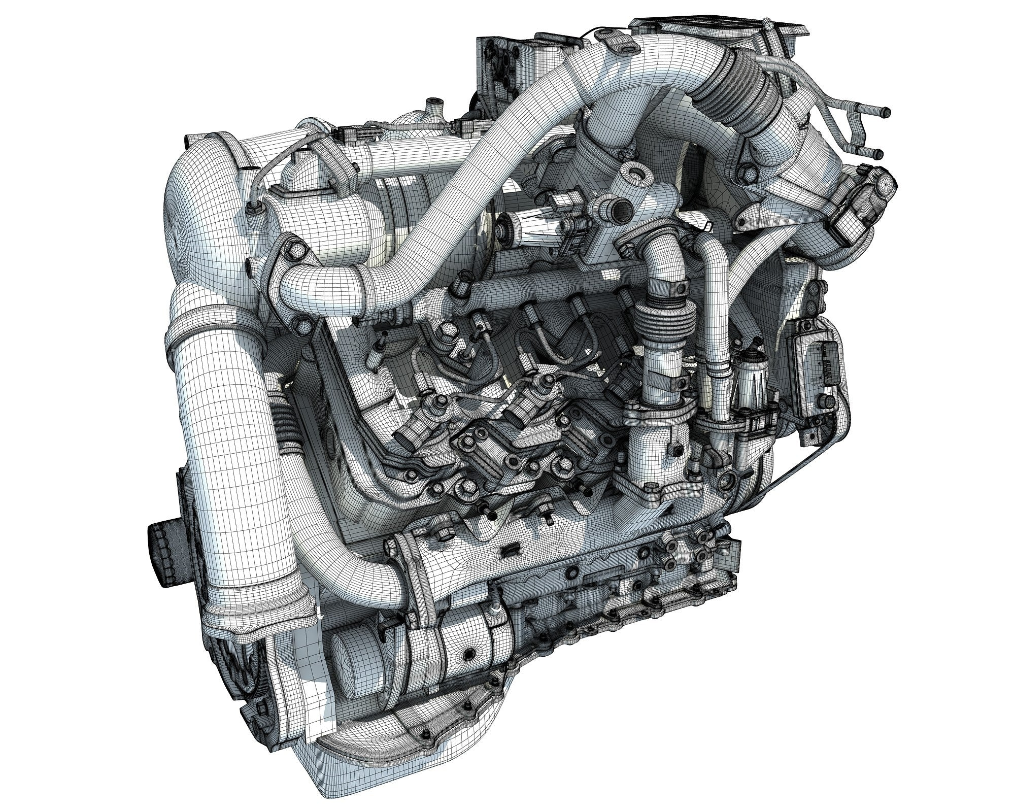 V8 Turbo Engine Model
