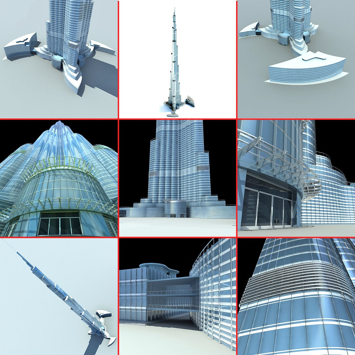 Burj Khalifa Dubai Tower 3D Model