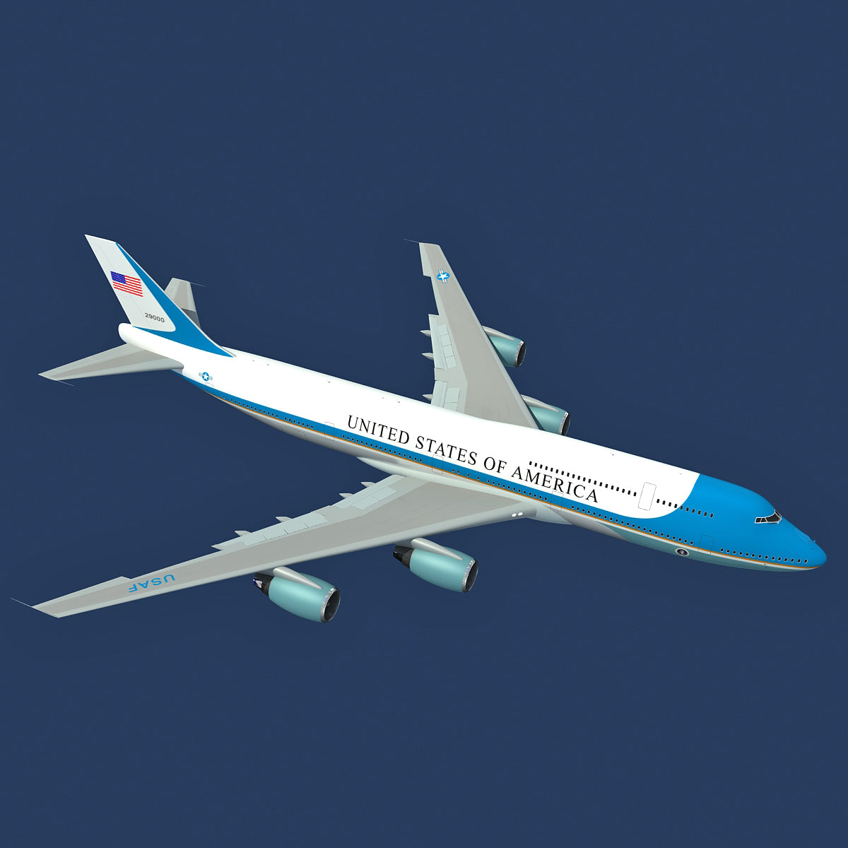 Air Force One 3D Model