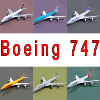 Boeing 747 with 6 Textures