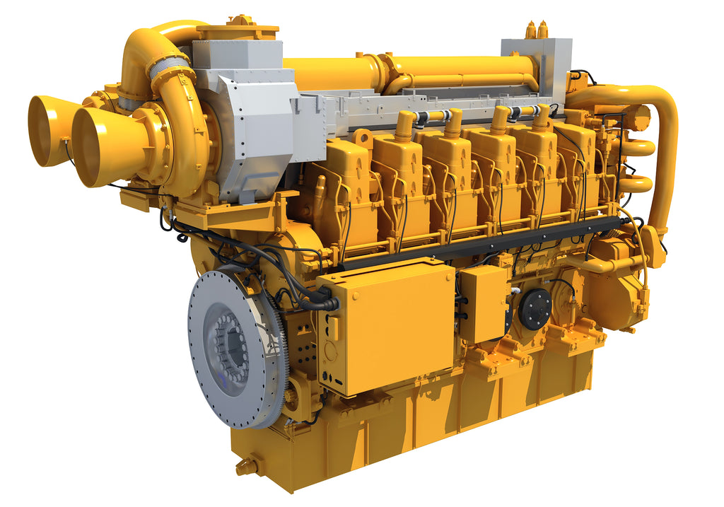 Marine Propulsion Engine 3D Model