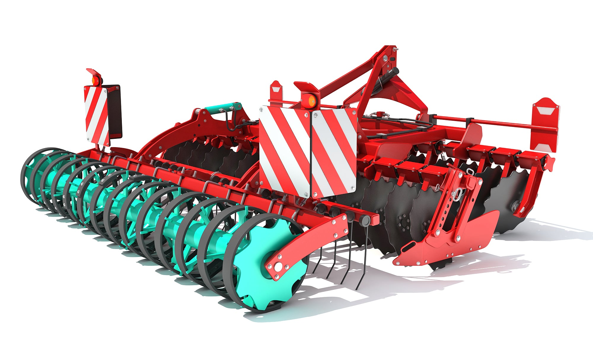 3D Compact Disc Harrow Model