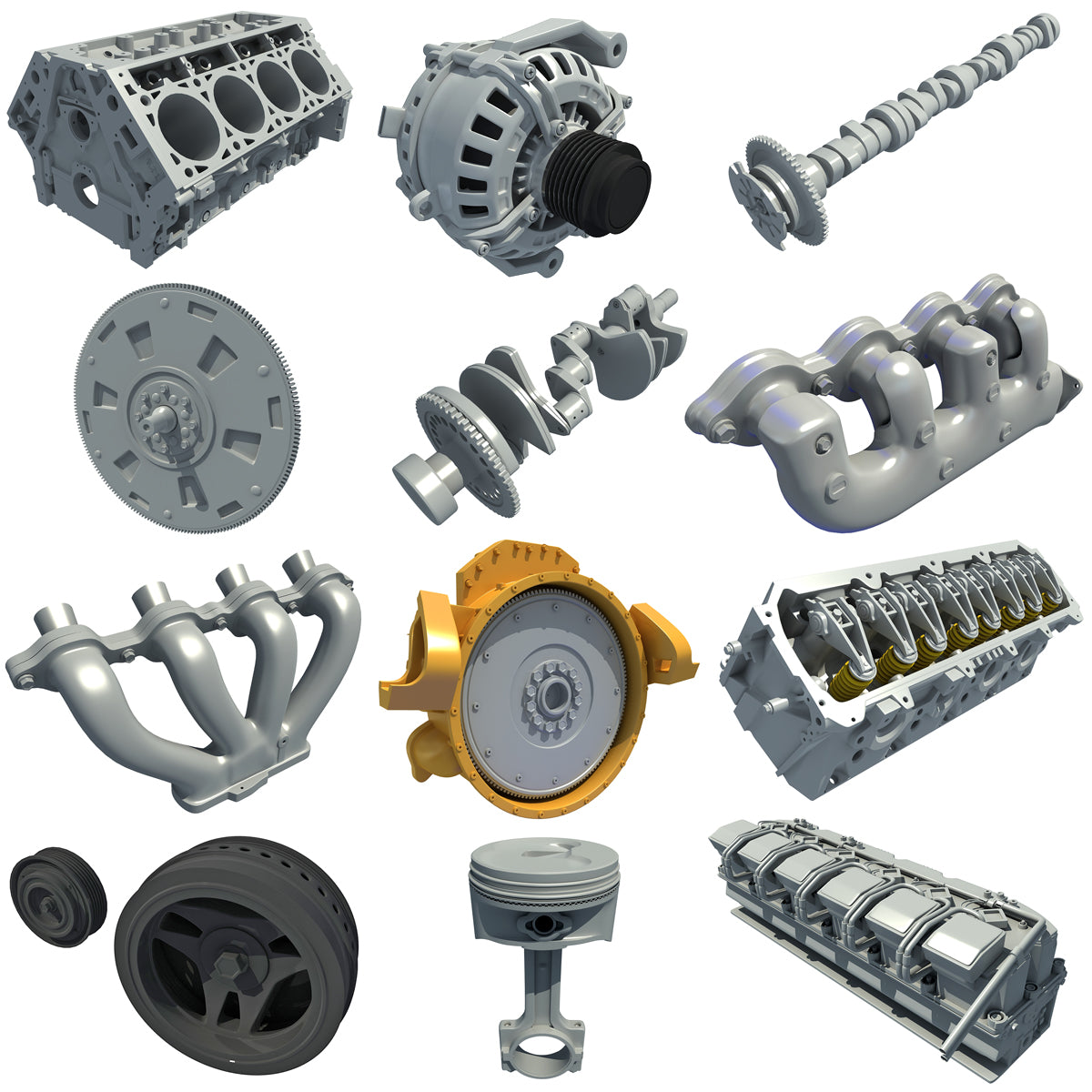 3D Engine Parts Models