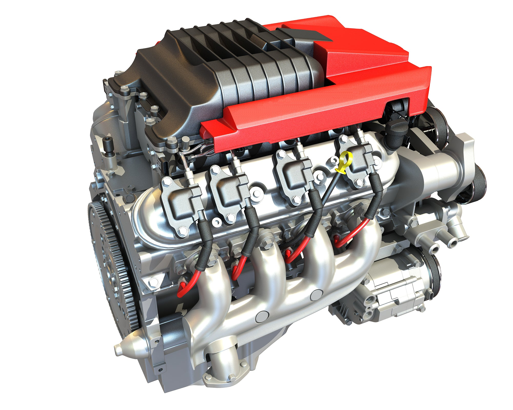 3D Models V8 Supercharged Engine