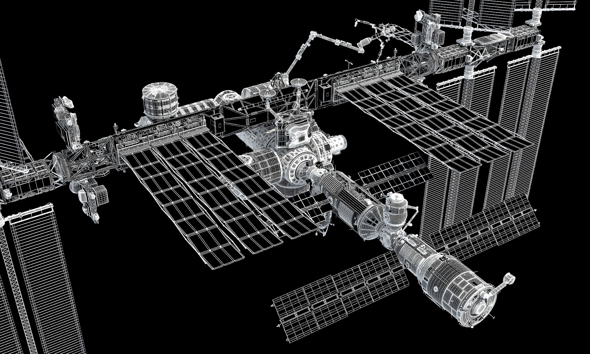 3D ISS International Space Station models