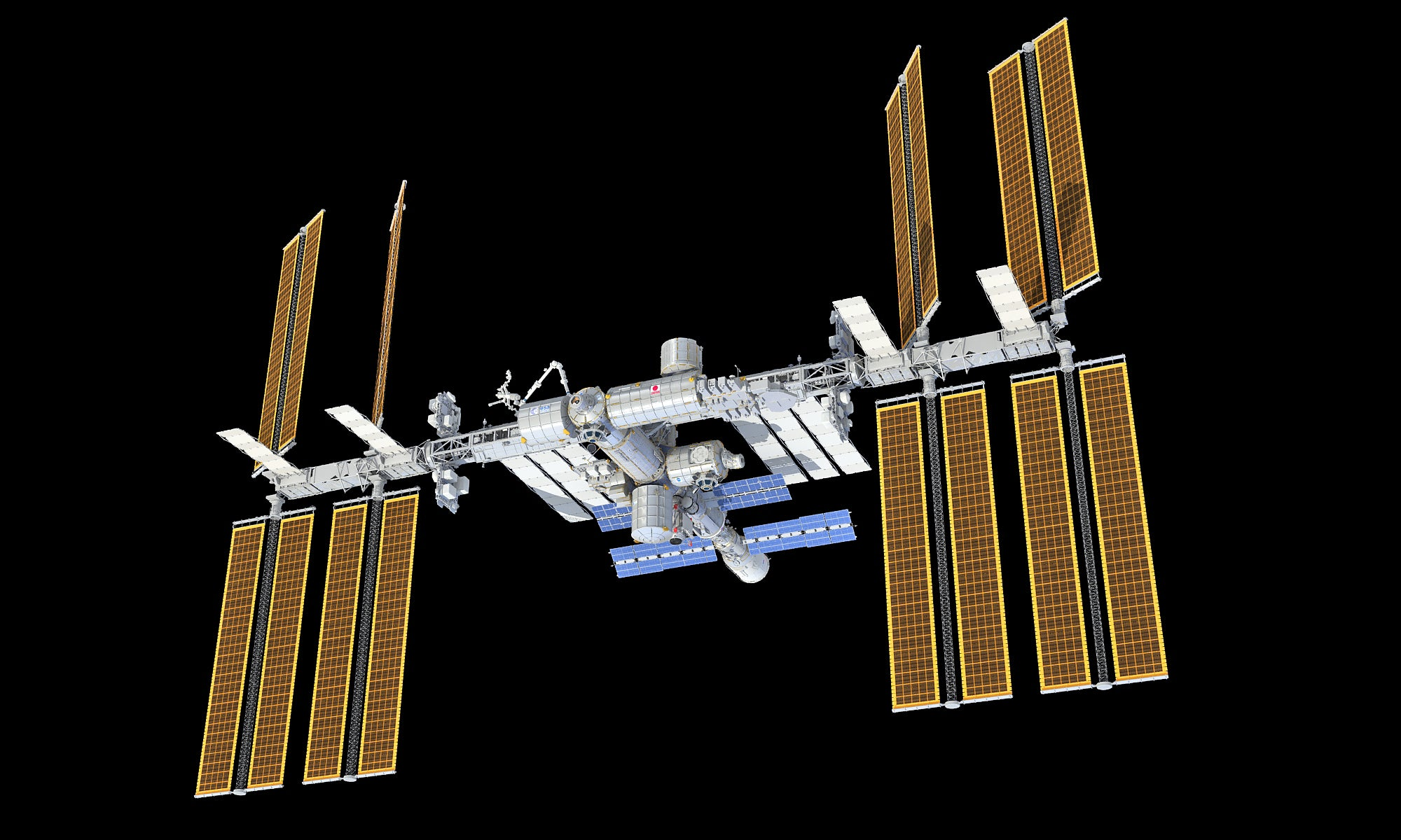 3D ISS International Space Station model
