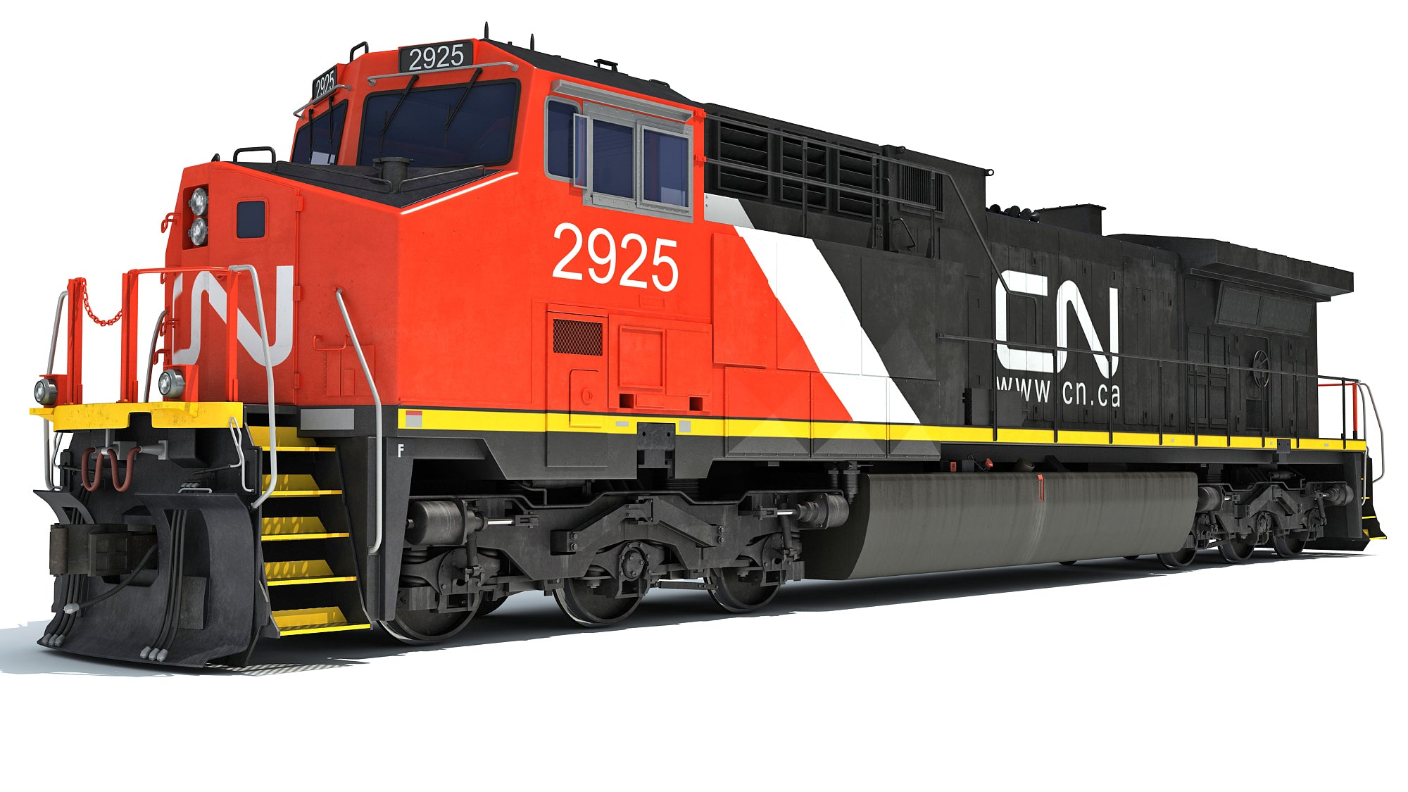 Locomotive Canadian National Railway CN 3D