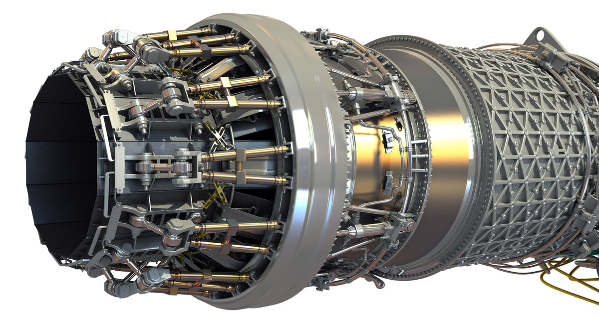 3D Military Turbofan Afterburning Engines