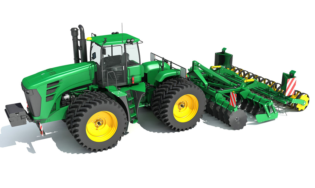Tractor with Seed Drill