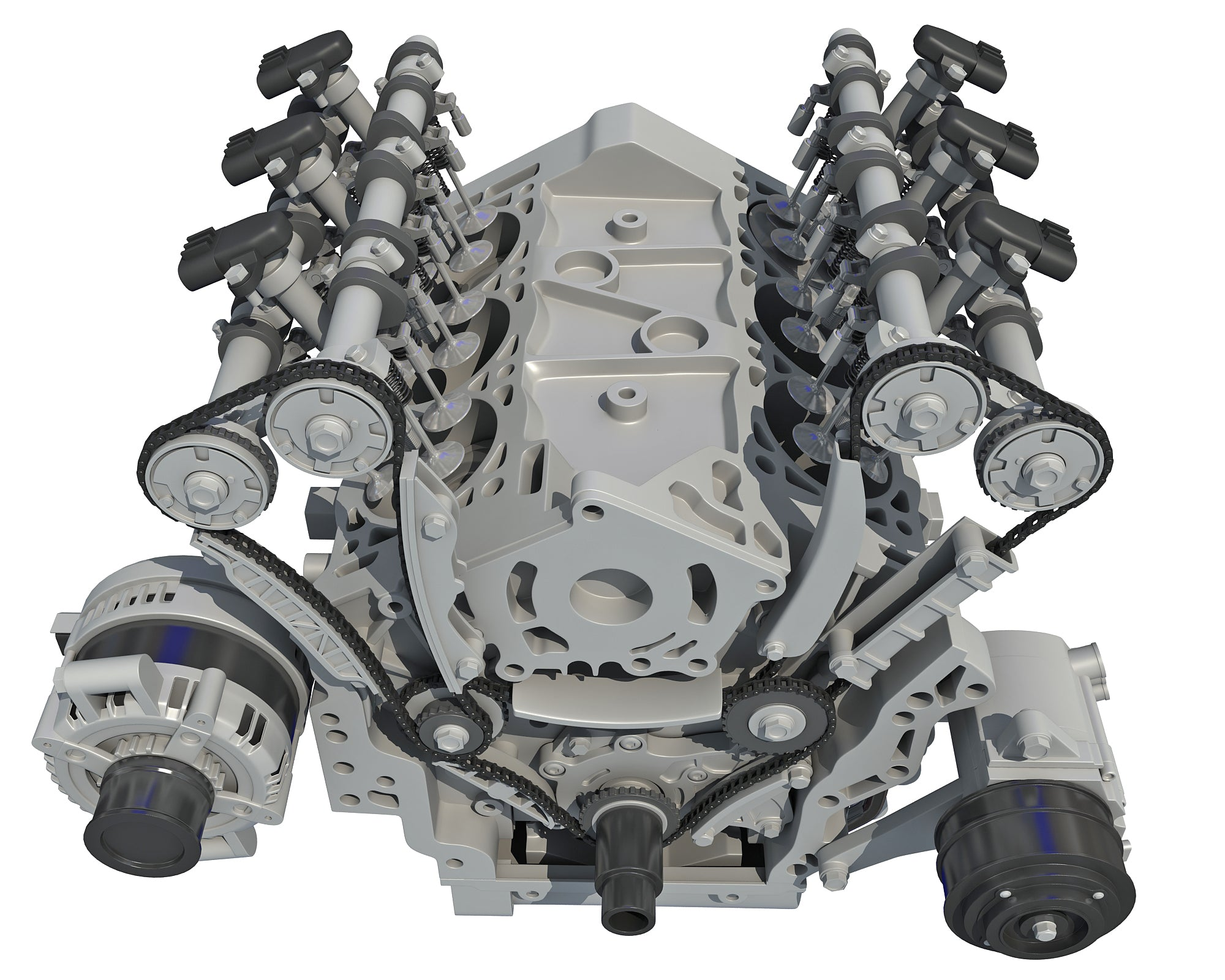 Twin Turbo Engine - 3D Models