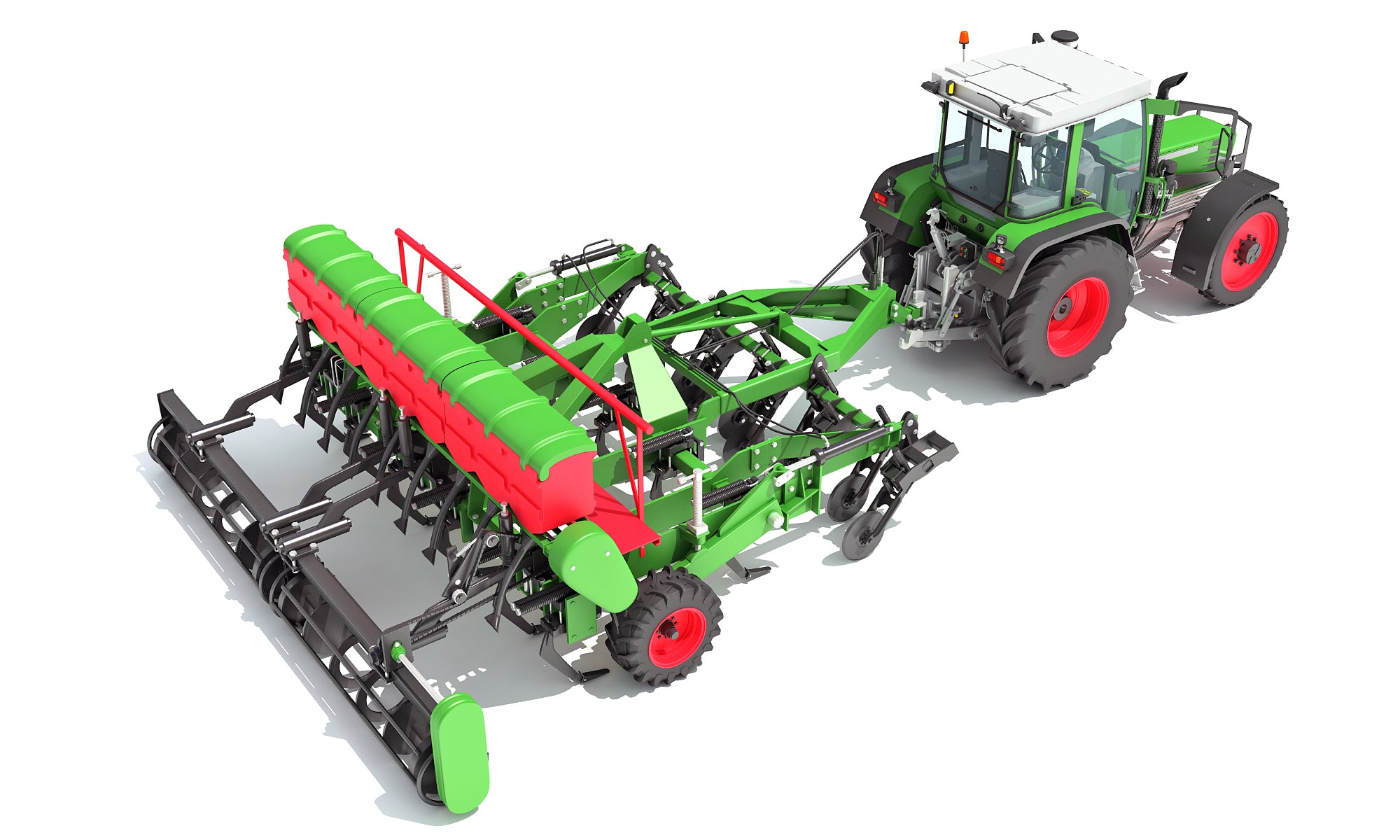 Seed Drill 3D Models