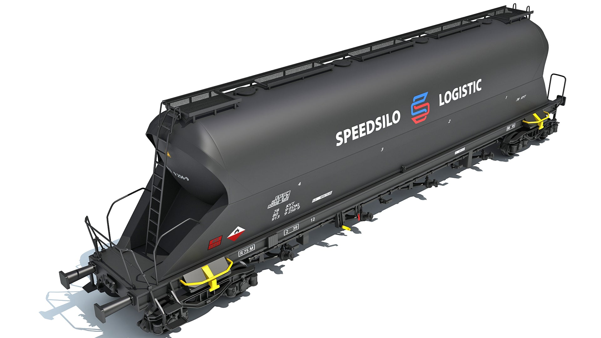 Railroad Silo Tank Train Car
