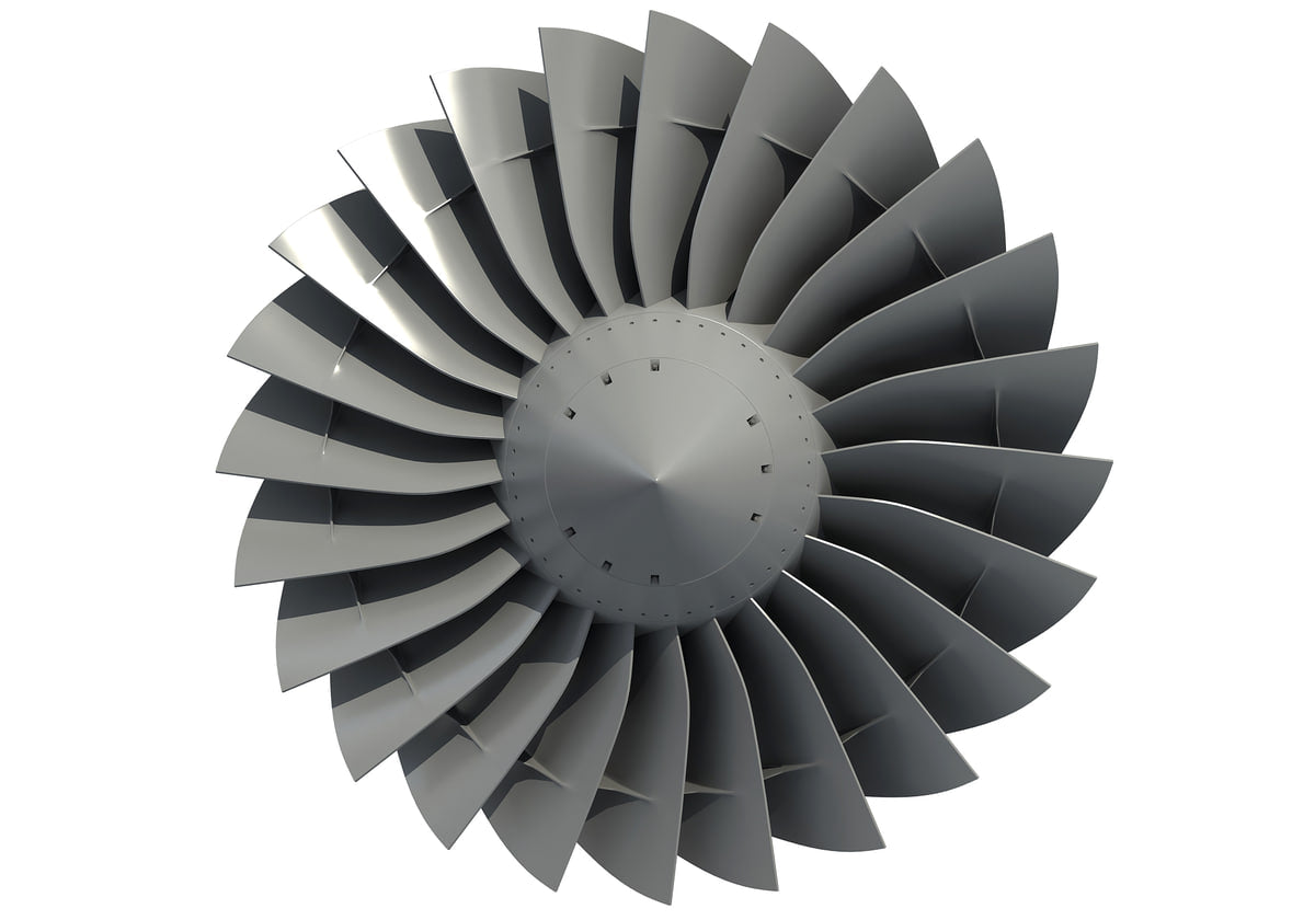 3D Turbines Collection Model