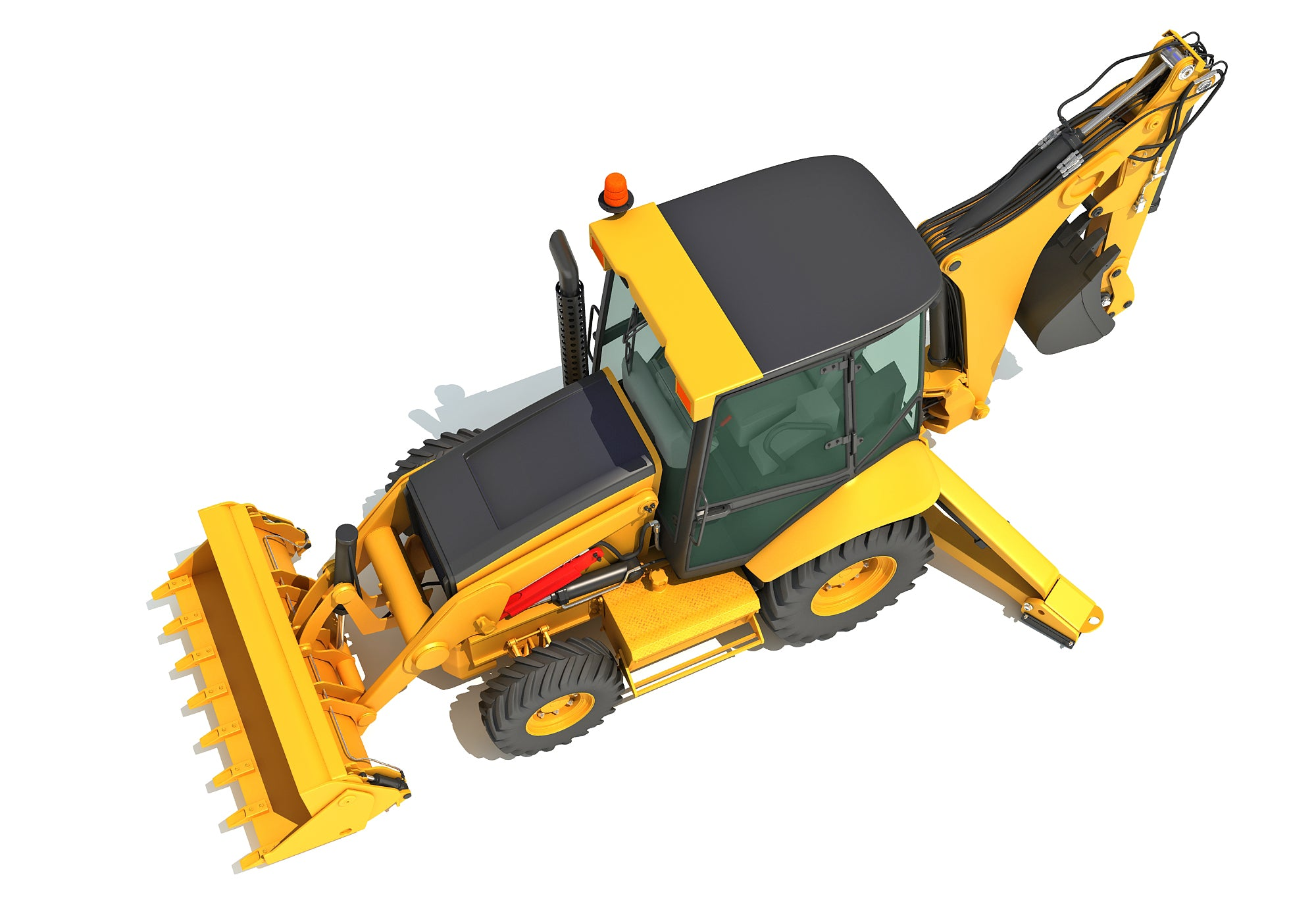 3D Backhoe Models