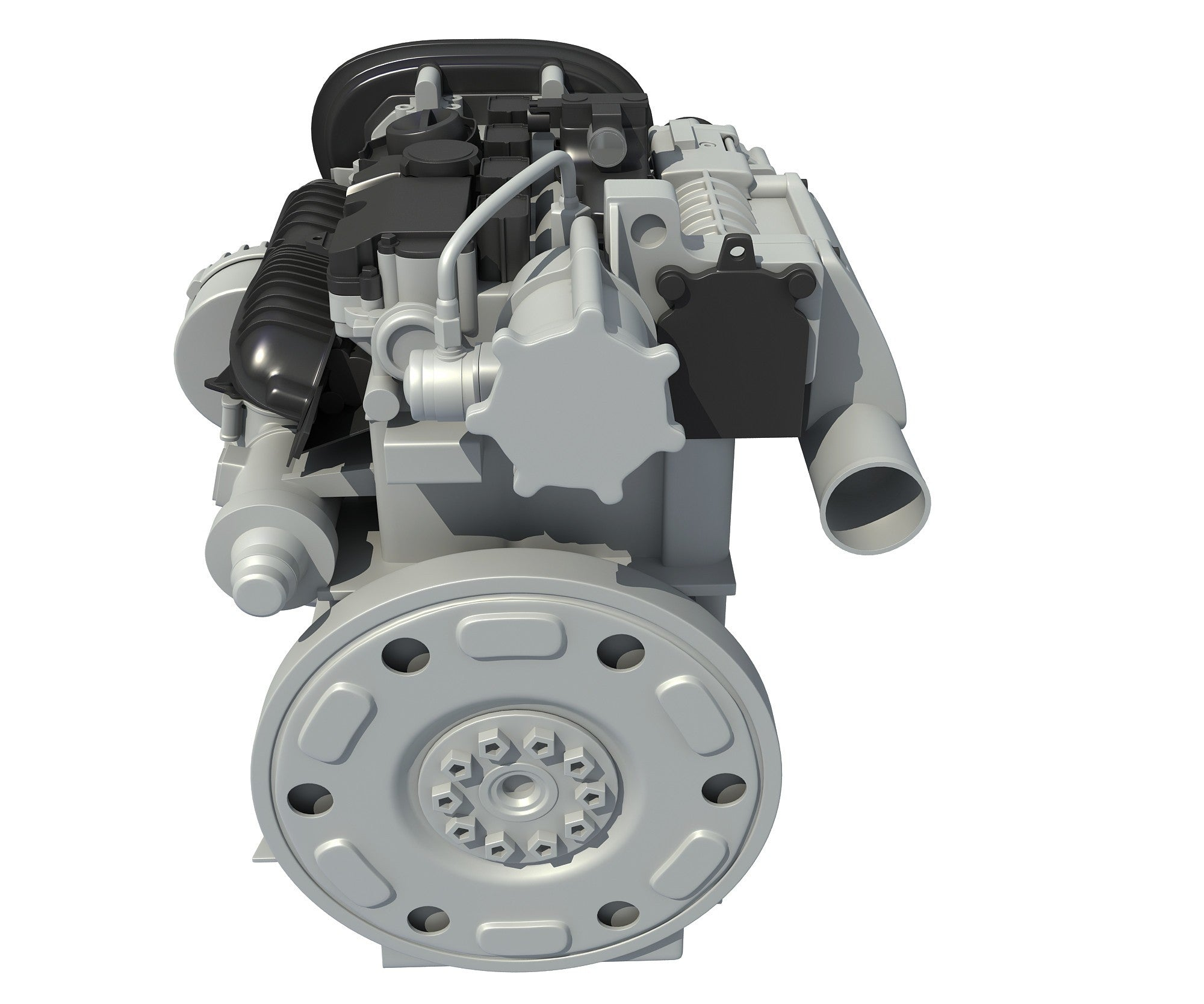 3D Car Engine Model
