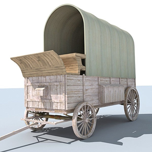 3D Old West Carriage