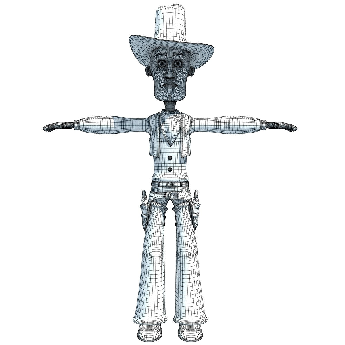 Cartoon Cowboy 3D Model