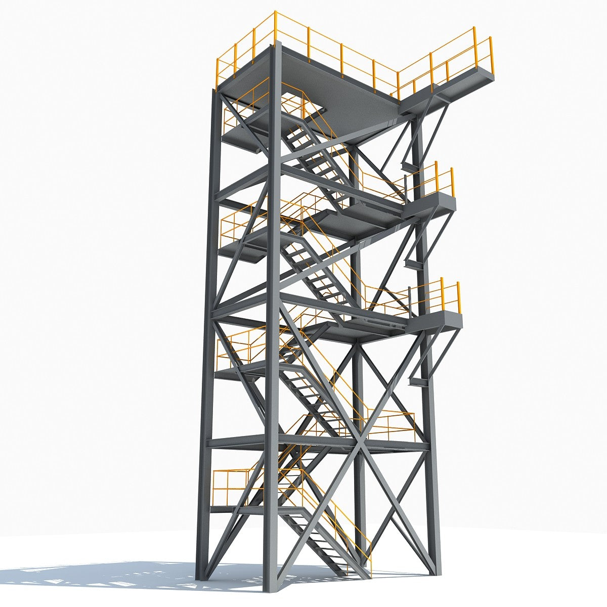 3D Industrial Towers Models