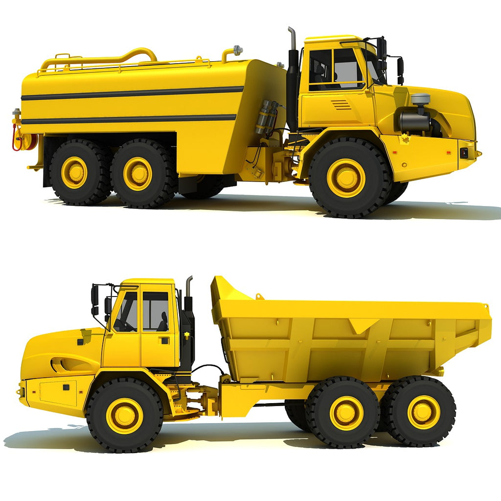 Dump Truck Water Wagon 3D Models