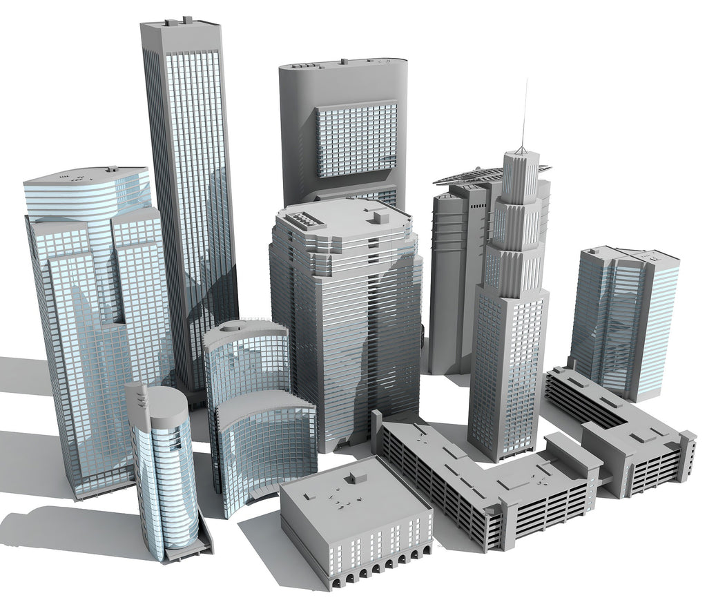 11 Buildings 3D Models