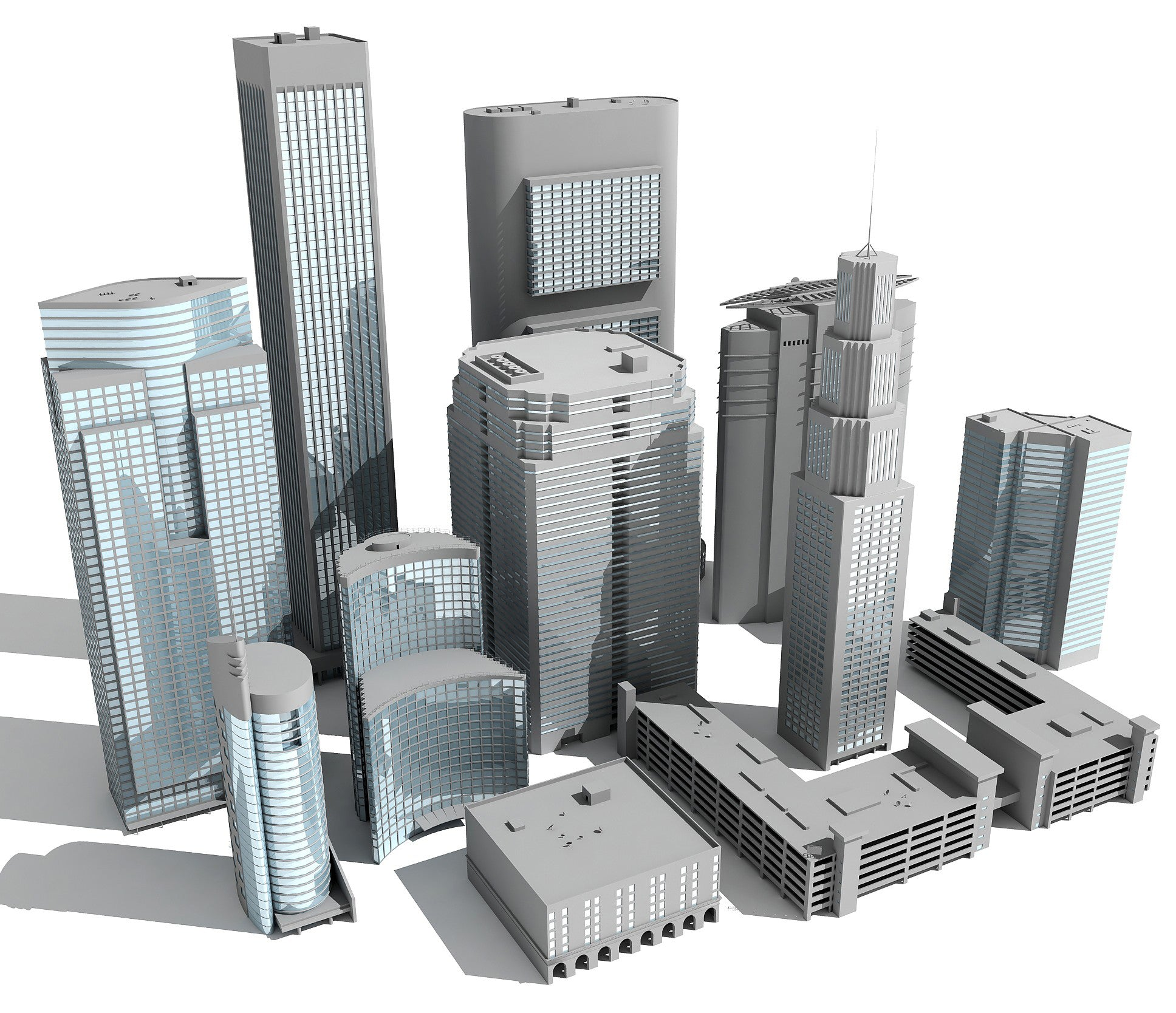 Skyscrapers 3D Models