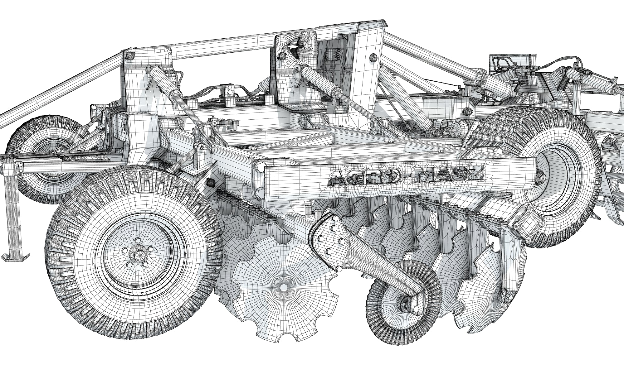 Disc Harrow 3D Model