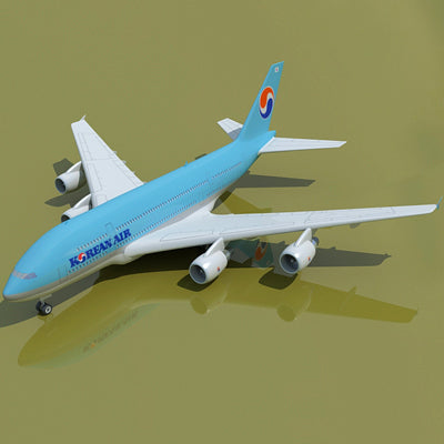 Airbus 3D Model 22 Airlines Textures